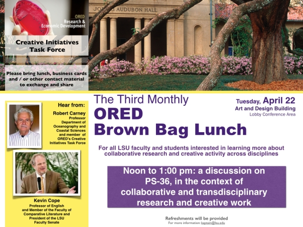 ORED Brown Bag Series--Tuesday, April 22, 2014